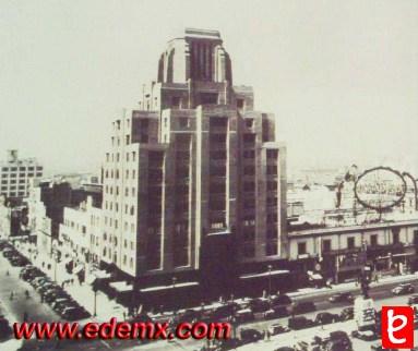 Aspecto del Edificio La Nacional en la década de los años 40's. ID384, ©.