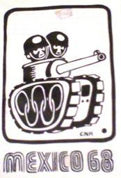 Caricatura del Movimiento y la Matanza. ID472, 1968©